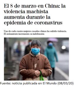 Noticia publicada en El Mundo (08/03/20)